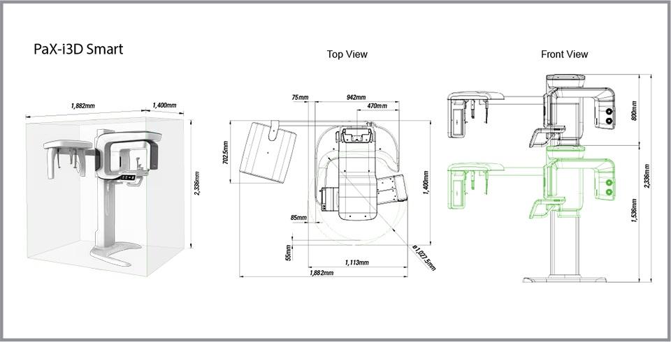 Rayos x panoramico digital vatech serie pax i3d smart cone for Cuarto de rayos x odontologia